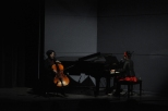 Sandra Yacoub (Piano & Vocal) and Maddie Jackson (Cello & Vocal)