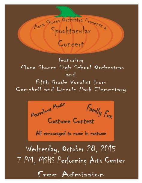Spooktacular Concert Poster 2015