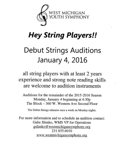Debut Strings Flyer