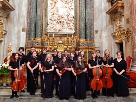 Mona Shores Orchestra Italy Performance Group at the Church of Sant'Agnse in Agone, Piazza Navona -Roma