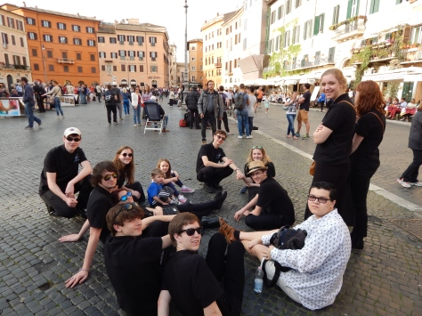 Waiting for dinner in Piazza Navona