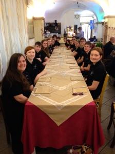 Dinner in Livorno, Italy