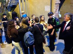 Post performance reception at Fortezza Vecchia.